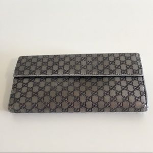 Gucci Bags - Authentic GUCCI silver long wallet